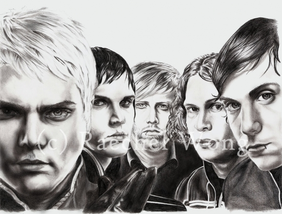 Gerard Way, Mikey Way, Ray Toro, Bob Bryar, Frank Iero by raechel